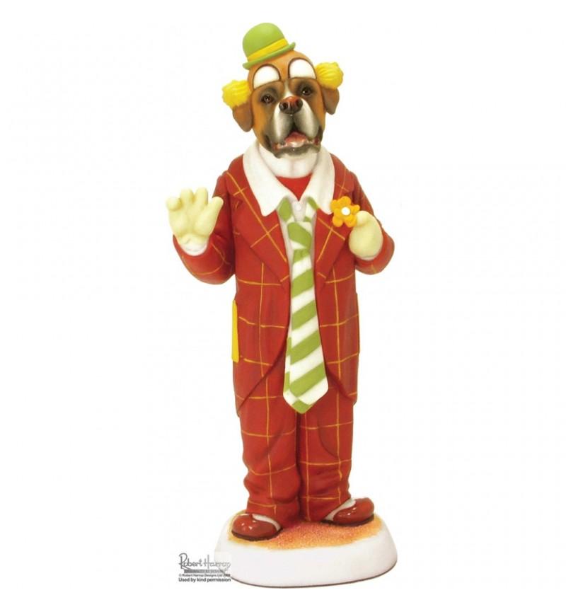 Boxer - Dog Ornament / Figurine - Auguste Clown