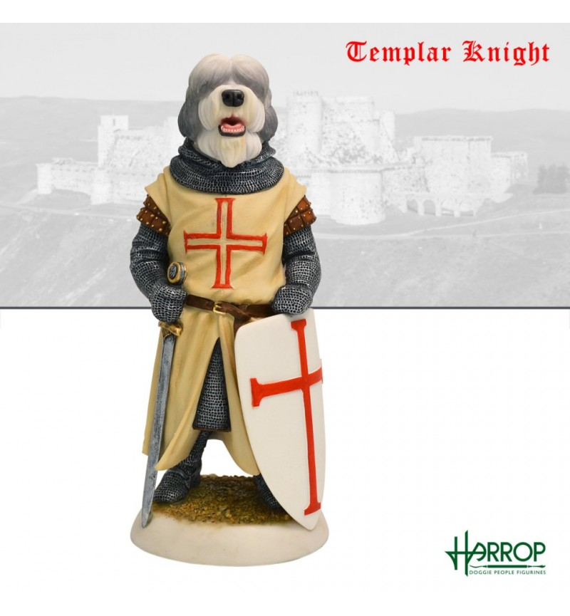 Old English Sheepdog - Templar Knight