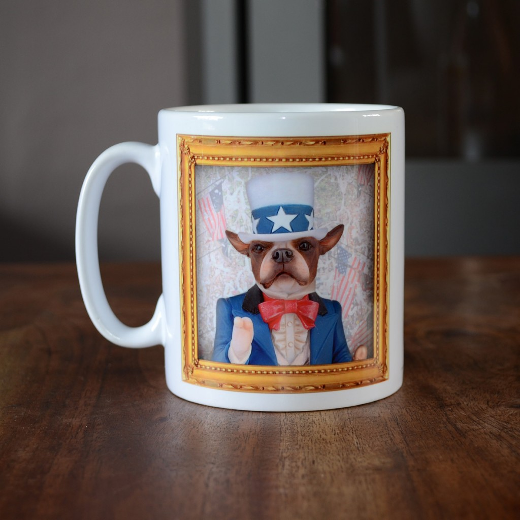 Boston Terrier - Uncle Sam - Coffee Mug