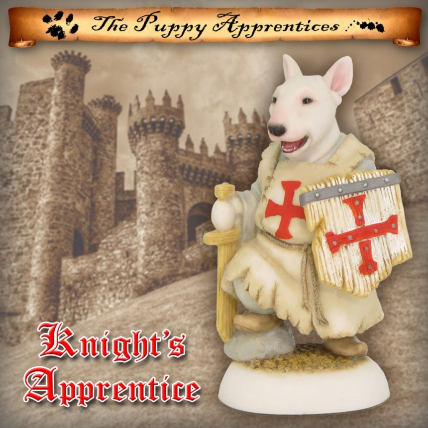 Bull Terrier Puppy - Knight's Apprentice (Templar)