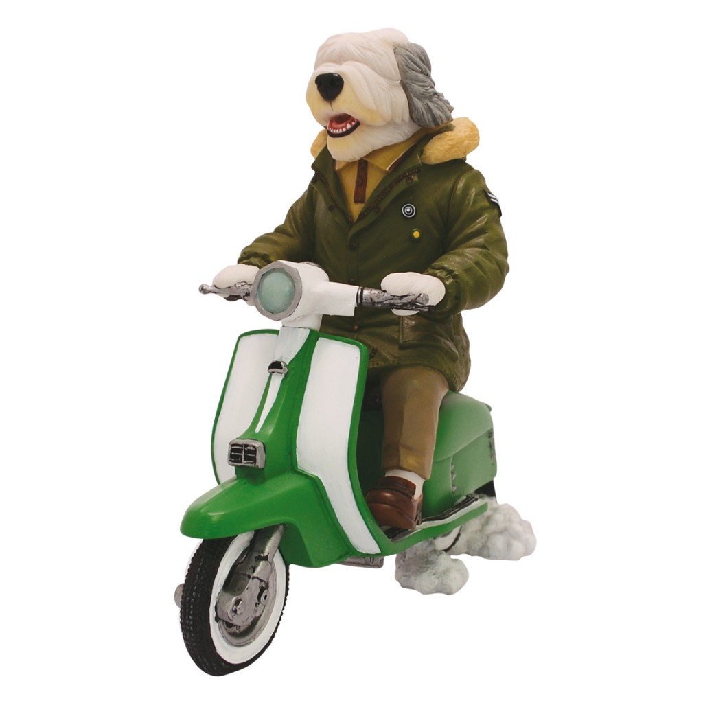 Old English Sheepdog - MOD on Scooter