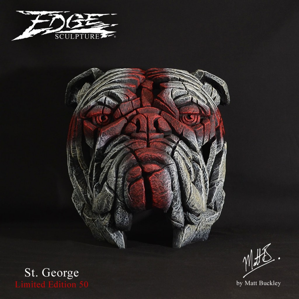 St. George Bulldog Bust - Edge Sculpture