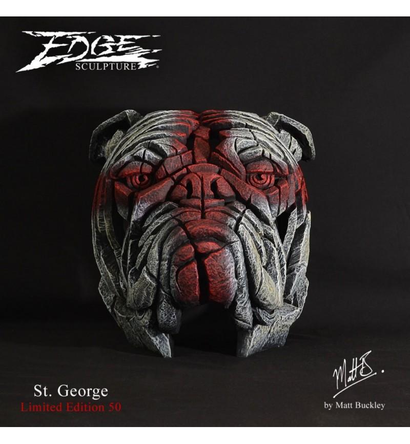 St. George Bulldog Bust - Edge Sculpture