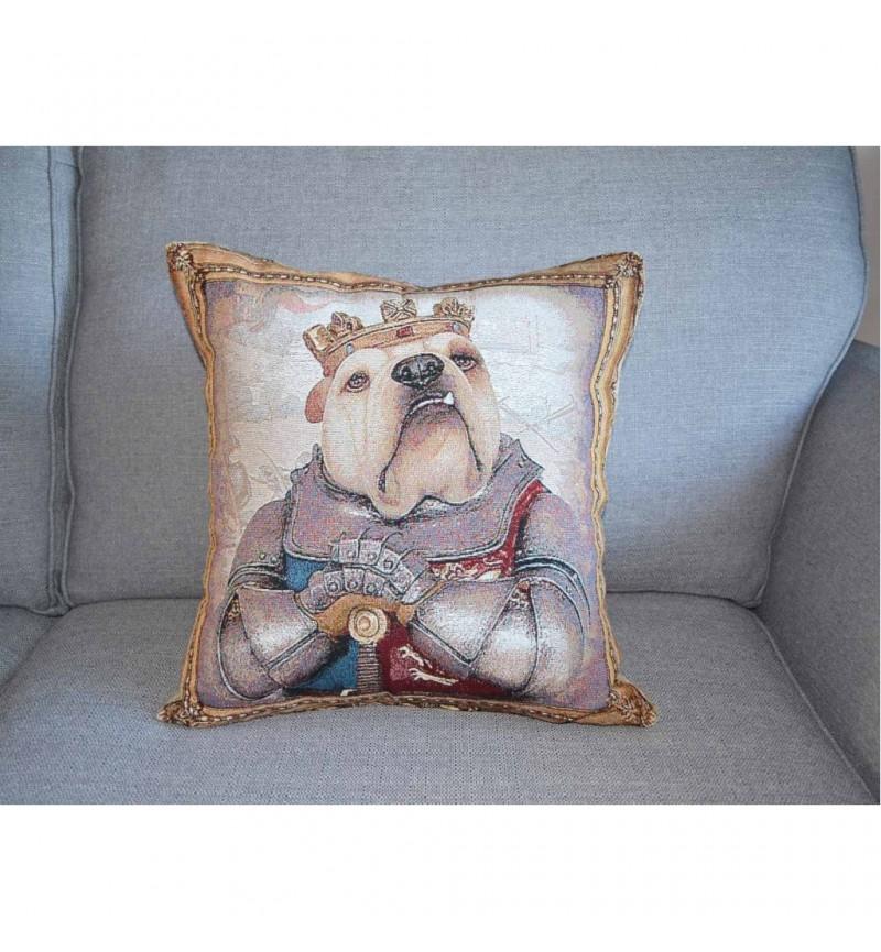 Bulldog - King Henry V - Tapestry Cushion Cover