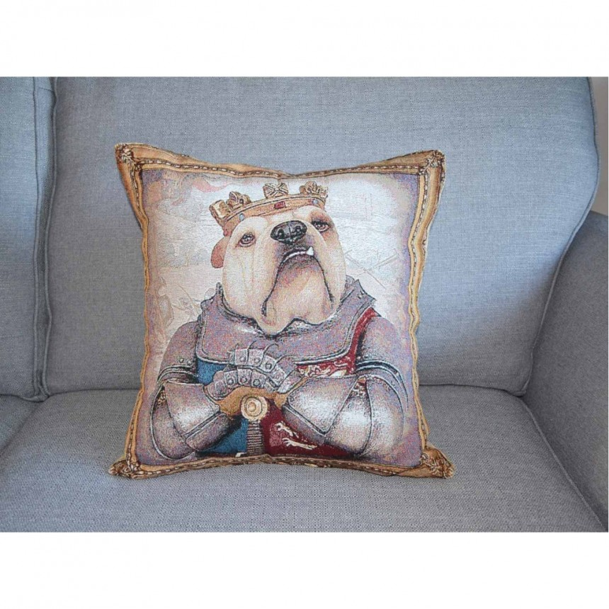 Bulldog - King Henry V - Tapestry Cushion Cover