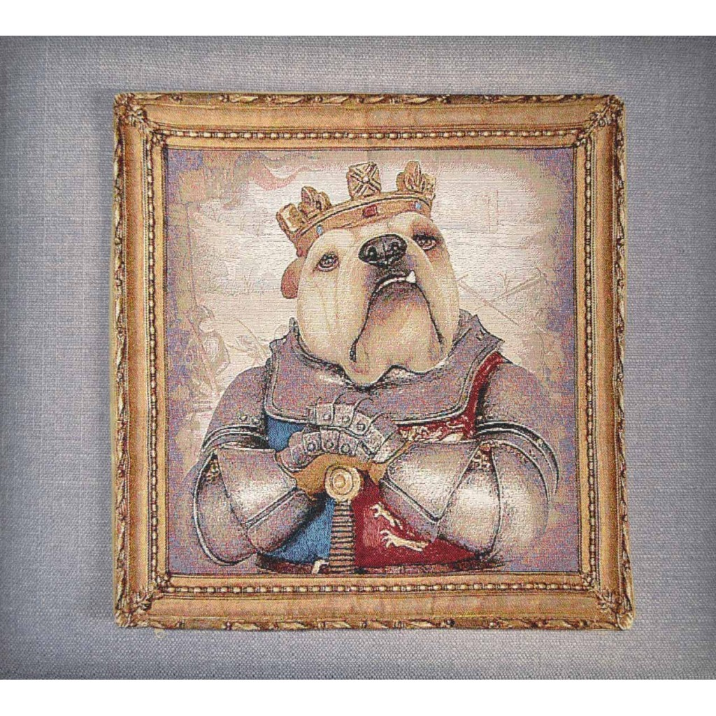 Bulldog - King Henry V - Tapestry Cushion