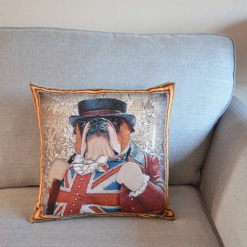 Bulldog - John Bull - Tapestry Cushion Cover