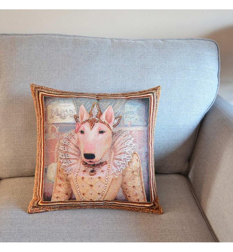 Bull Terrier - Queen Elizabeth I - Tapestry Cushion