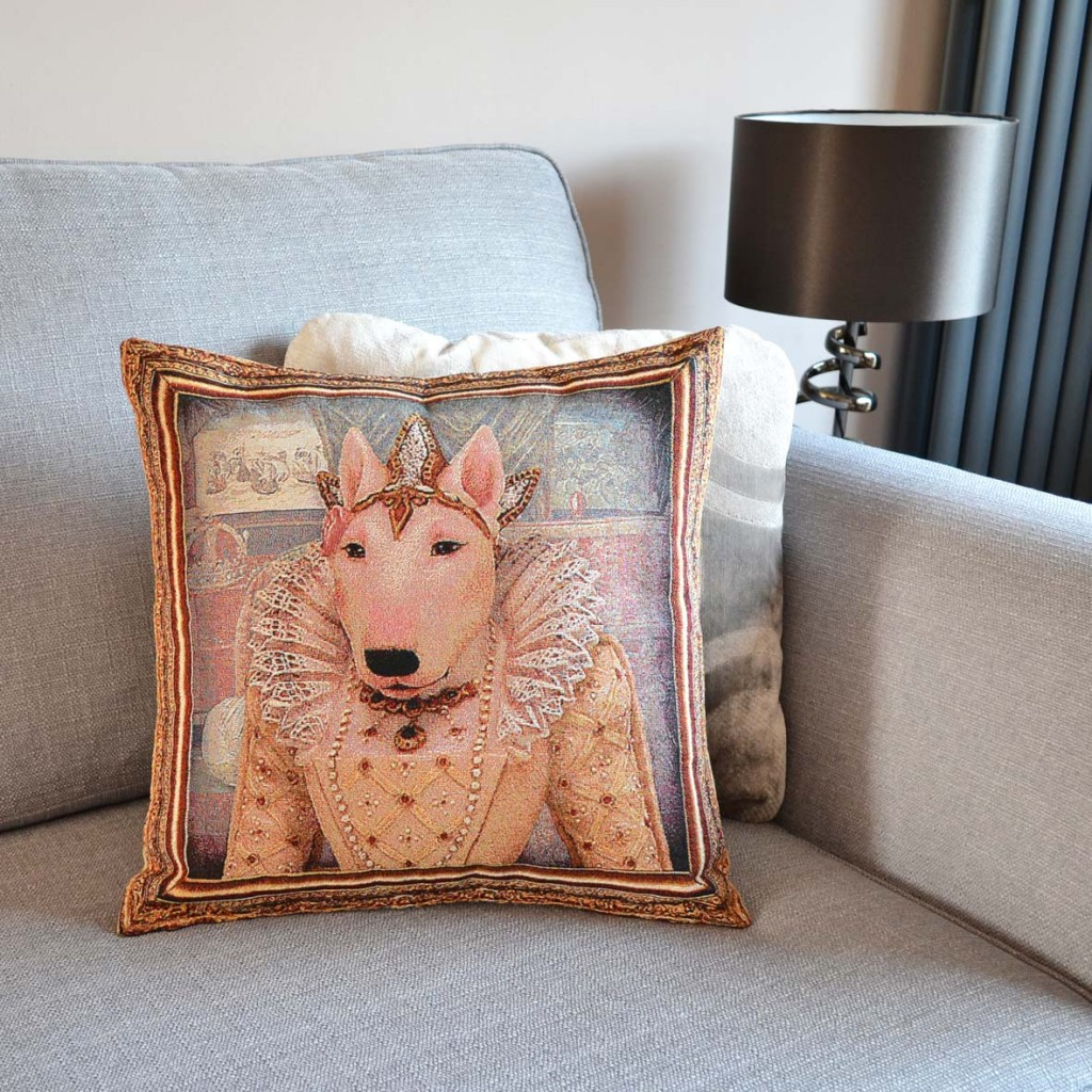 Bull Terrier - Queen Elizabeth I - Tapestry Cushion