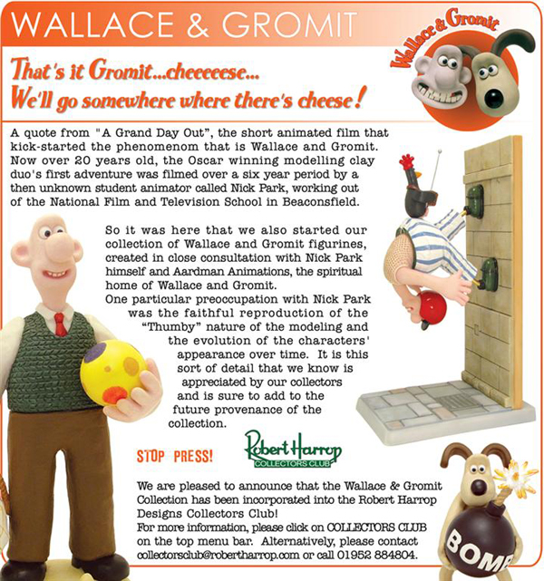 Wallace and Gromit header image